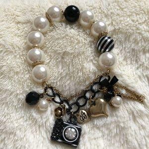 Betsey Johnson camera charm bracelet